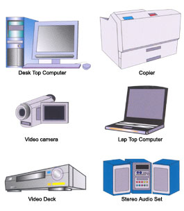 Different devices like lap tops, copiers or desk top computers where it is necessary to dispense some grease during their manufacturation.
